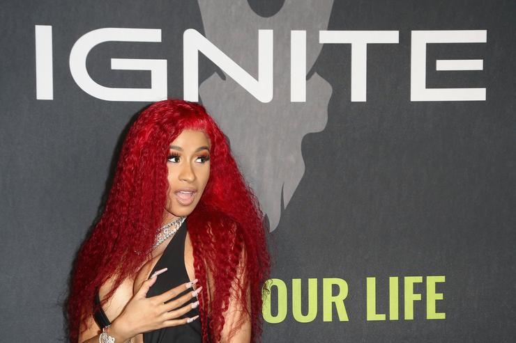 Cardi B attends Ignite's Angels and Devils Pre-Valentine's Day Party on February 13, 2019 in Bel Air, California