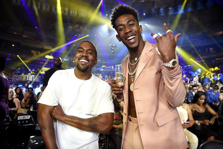 Kanye West (L) and Desiigner attend the 2016 MTV Video Music Awards at Madison Square Garden on August 28, 2016 in New York City.