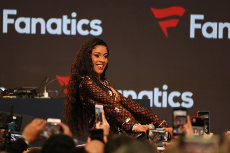 Cardi B performs at the Fanatics Super Bowl Party at College Football Hall of Fame on January 5, 2019 in Atlanta, Georgia.