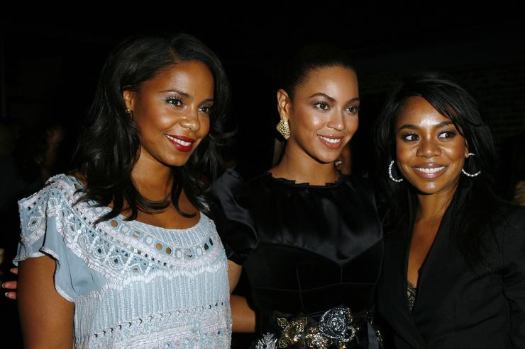 Sanaa Lanthan, actress/singer Beyonce Knowles and actress Regina Hall attend the after party of the Los Angeles Premiere of 'Cadillac Records' at The Egyptian Theater on November 24, 2008 in Hollywood, California