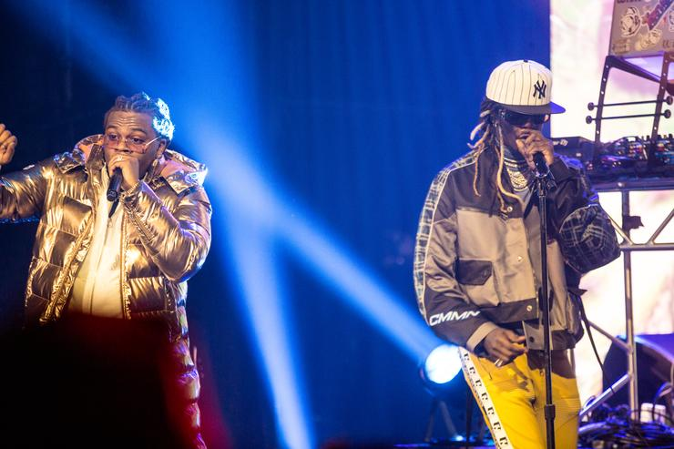 Gunna and Young Thug performing live in NYC