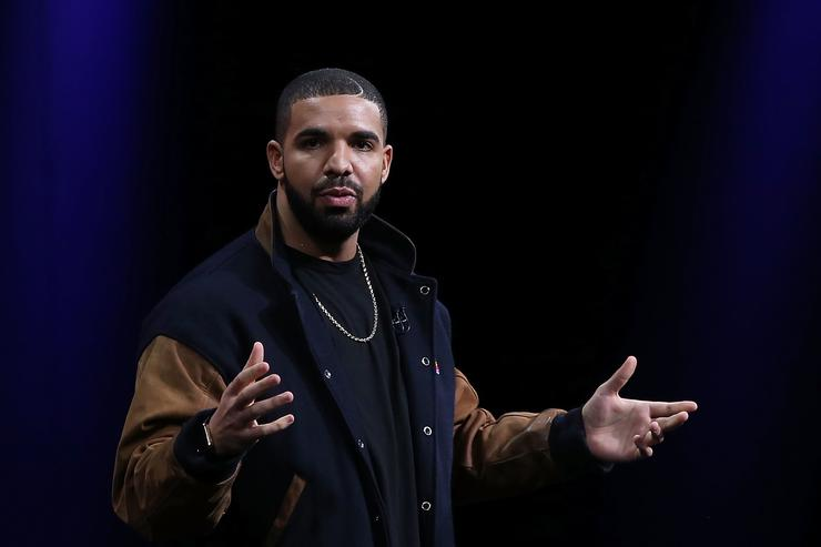 Drake speaks about Apple Music during the Apple WWDC on June 8, 2015 in San Francisco, California