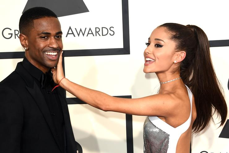 Big Sean (L) and singer Ariana Grande attend The 57th Annual GRAMMY Awards at the STAPLES Center on February 8, 2015 in Los Angeles, California