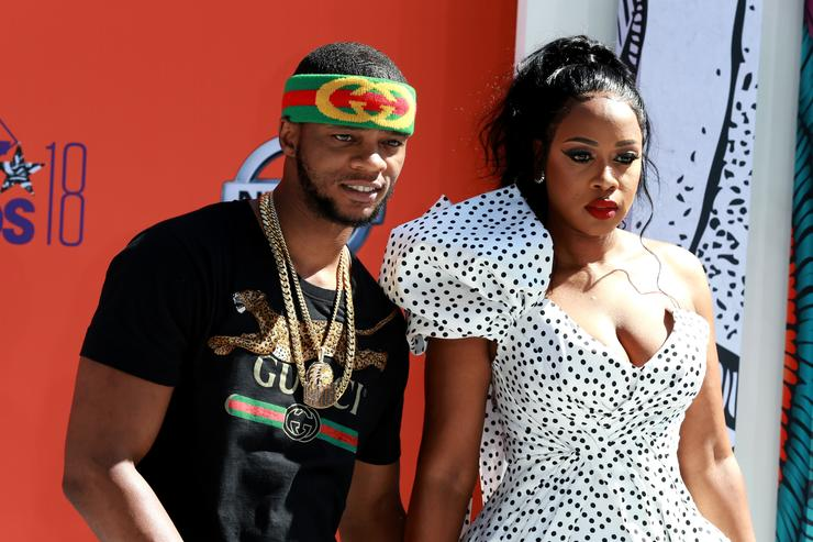 Papoose (L) and Remy Ma attend the 2018 BET Awards at Microsoft Theater on June 24, 2018 in Los Angeles, California