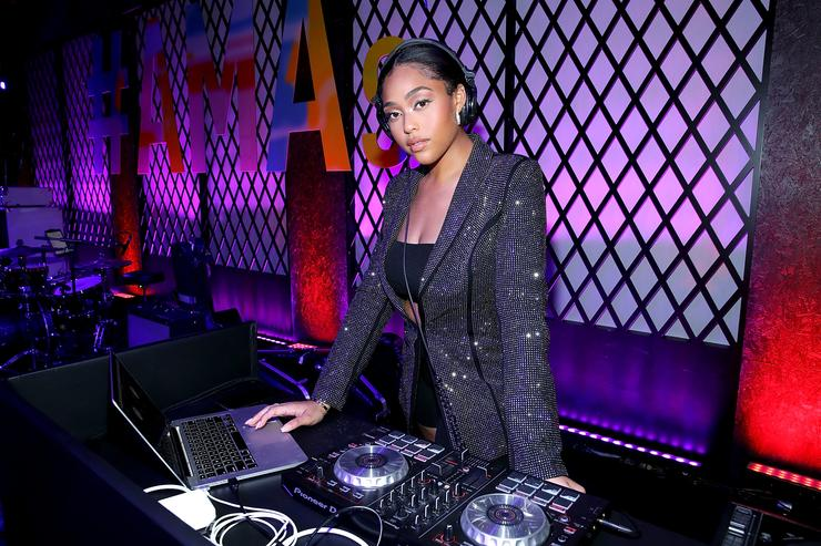 Jordyn woods performs on stage during the official 2018 American Music Awards after party presented by Security Benefit at Microsoft Theater Gold Ballroom on October 9, 2018 in Los Angeles, California.