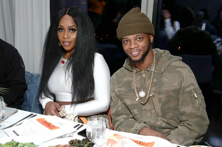 Remy Ma and Papoose Mackie attend the Heron Preston + Tequila Avion Dance Party in Celebration Of Heron Preston 'Public Figure' at Public Arts on February 13, 2018 in New York City