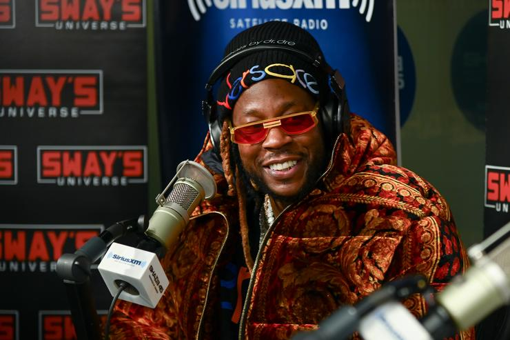 2 Chainz visits 'Sway in the Morning' with Sway Calloway on Eminem's Shade 45 at SiriusXM Studios on February 27, 2019 in New York City