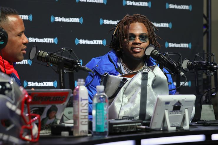 Gunna attends SiriusXM at Super Bowl LIII Radio Row on February 01, 2019 in Atlanta, Georgia.