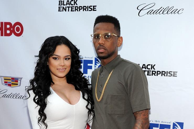 Emily B. and rapper Fabolous attend the 'Think Like A Man Too' premiere during the 2014 American Black Film Festival at SVA Theater on June 19, 2014 in New York City.