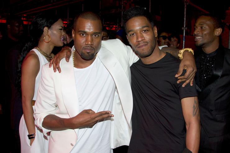 Kanye West and Kid Cudi attend The 'Cruel Summer' Presentation by Kanye West during the 65th Annual Cannes Film Festival at Casino Palm Beach on May 23, 2012 in Cannes, France.