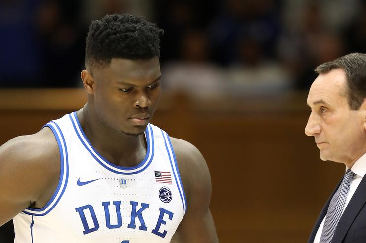 Coach K: Zion Williamson Expected Back for ACC Tournament