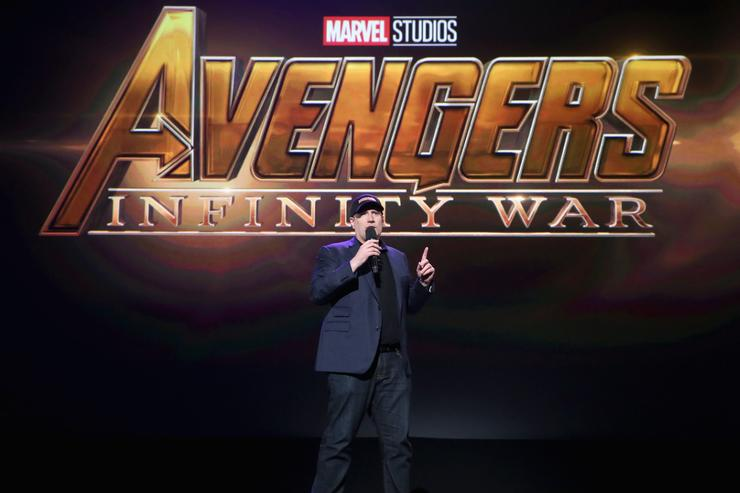 Producer Kevin Feige of AVENGERS INFINITY WAR took part today in the Walt Disney Studios live action presentation at Disney's D23 EXPO 2017 in Anaheim Calif