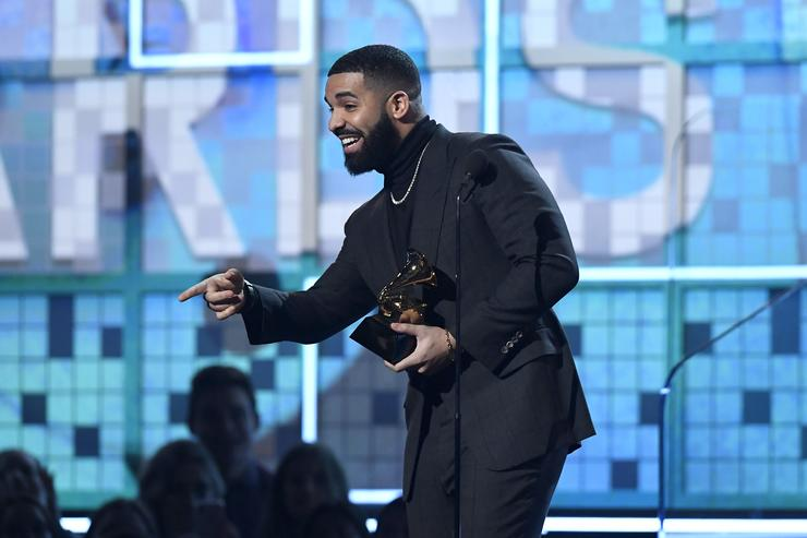 Drake accepts Best Rap Song for 'God's Plan' onstage during the 61st Annual GRAMMY Awards at Staples Center on February 10, 2019 in Los Angeles, California.