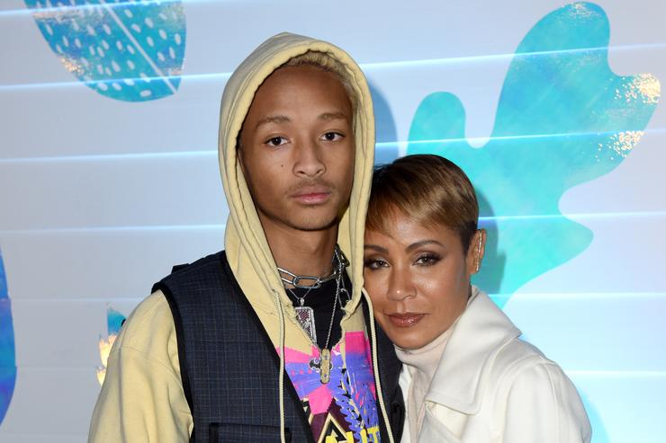 "Jaden Smith (L) and Jada Pinkett Smith at the ""Hala"" party at DIRECTV Lodge presented by AT&T at Sundance Film Festival 2019 on January 26, 2019 in Park City, Utah."