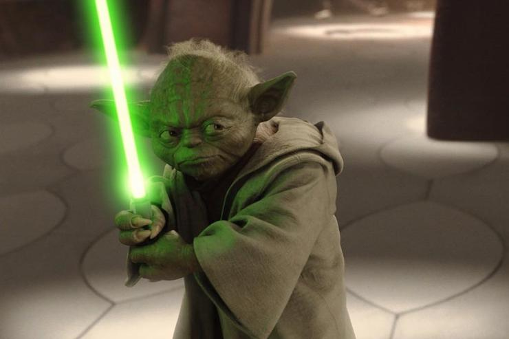 Yoda lightsaber Star Wars