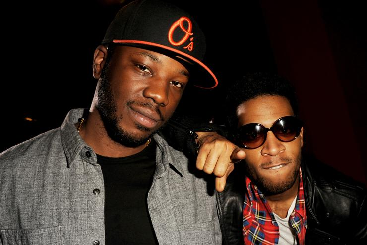 "Dot Da Genius and Kid Cudi at premiere of Warner Brother's.""Project X"""