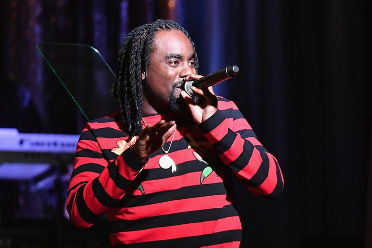 Wale performing at the 2016 ASCAP Rhythm & Blues awards show.
