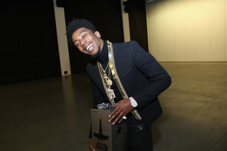 Desiigner at Def Jam X Star wars Propel holiday party.