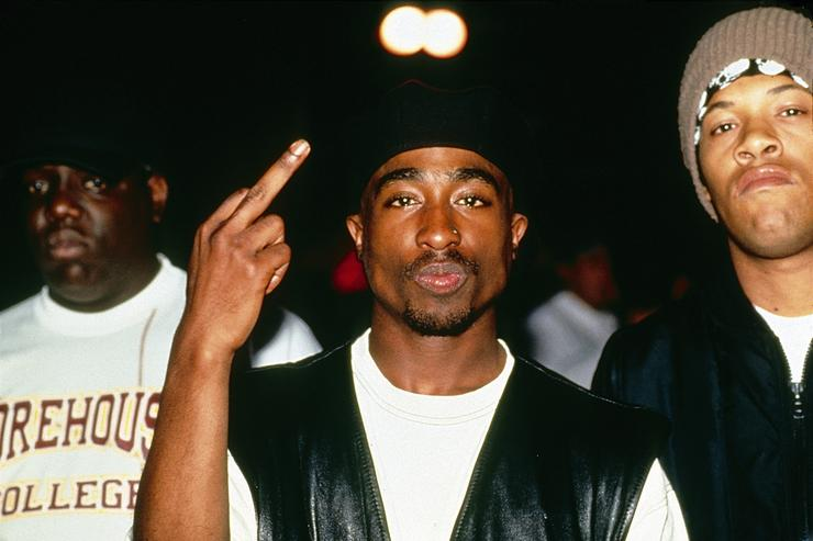Tupac performing at the Palladium NYC.