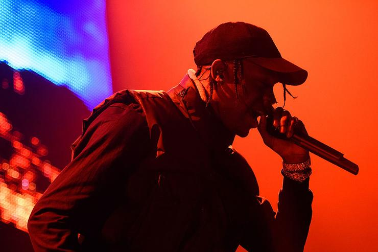 Travis Scott performs live for 'The Madness Fall Tour' at Prudential Center on November 11, 2015 in Newark, New Jersey.