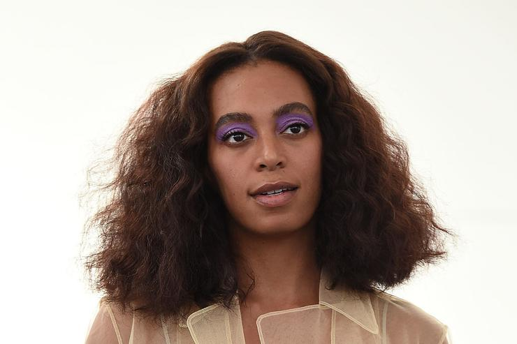Solange Knowles attends the Creatures of Comfort fashion show during New York Fashion Week September 2016 at Industria Studios on September 8, 2016 in New York City.