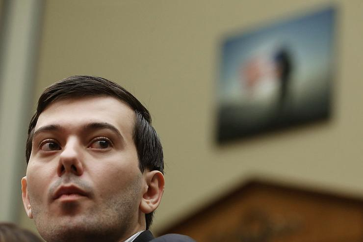 Martin Shkreli, former CEO of Turing Pharmaceuticals LLC., listens to questions during a House Oversight and Government Reform Committee hearing on Capitol Hill, February 4, 2016 in Washington, DC.