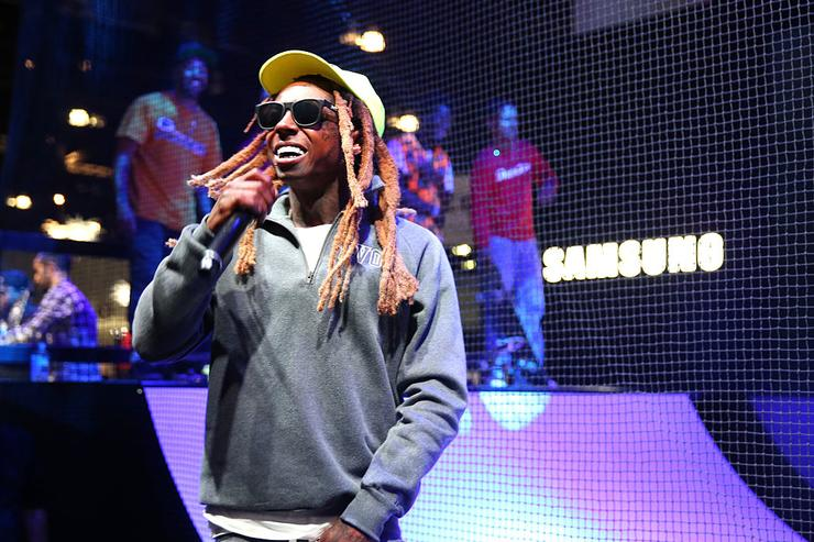 Lil Wayne at the Samsung booth at E3 Expo 2016 on June 15, 2016 in Los Angeles, California.