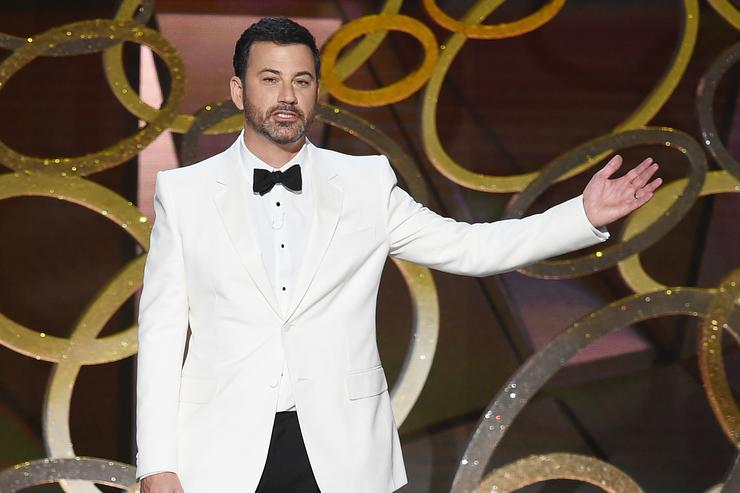 Jimmy Kimmel hosting the 68th annual Primetime Emmy awards show.