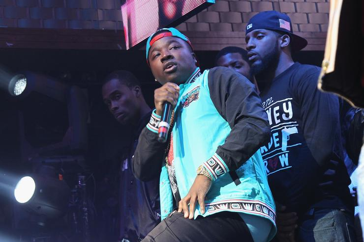 Troy Ave performing at Coors Light event.