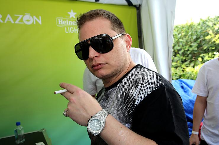 Scott Storch attends SiriusXM's 'UMF Radio' And Tiesto's Club Life Radio at the SiriusXM Music Lounge at W South Beach on March 26, 2014 in Miami Beach, Florida.