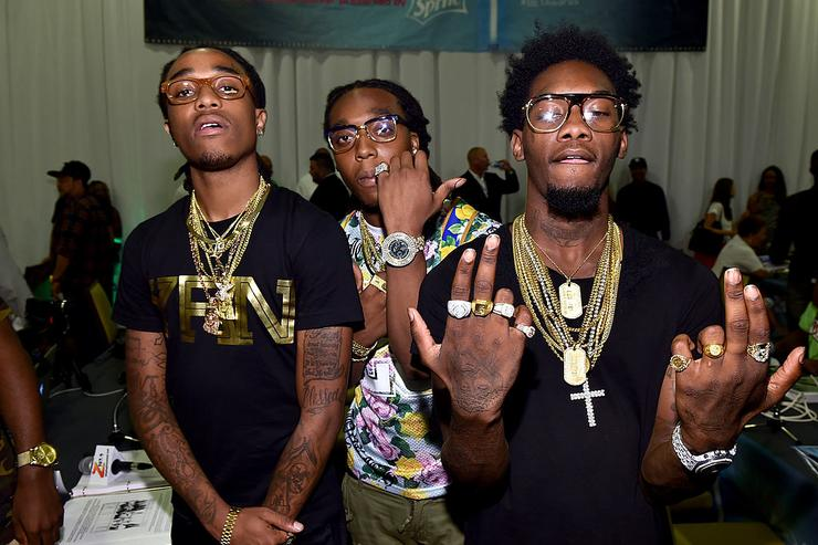 Migos attends day 1 of the Radio Broadcast Center during the BET Awards '14 on June 27, 2014 in Los Angeles, California.