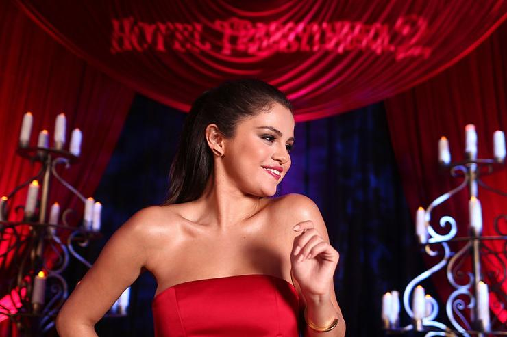 Selena Gomez poses for a portrait during the 'Hotel Transylvania 2' photo shoot during Summer Of Sony Pictures Entertainment 2015 at The Ritz-Carlton Cancun on June 14, 2015 in Cancun, Mexico.