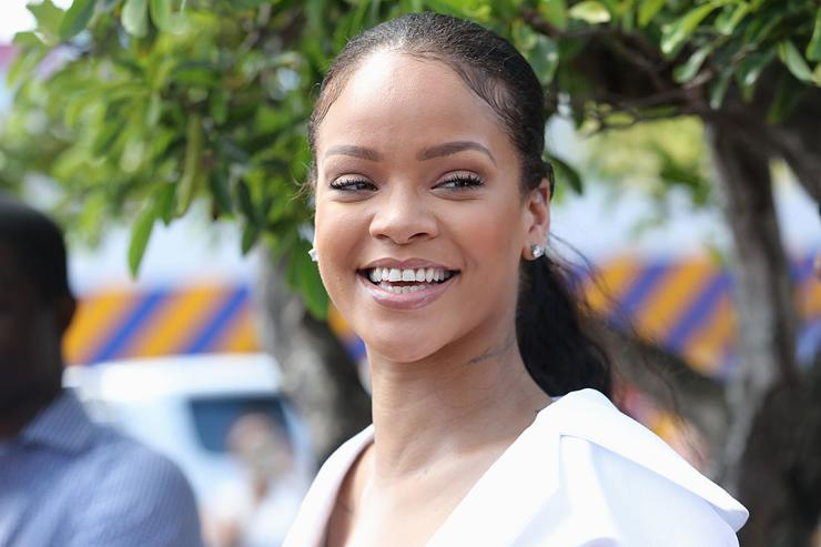 Rihanna attends the 'Man Aware' event held by the Barbados National HIV/AIDS Commission on the eleventh day of an official visit on December 1, 2016 in Bridgetown, Barbados.