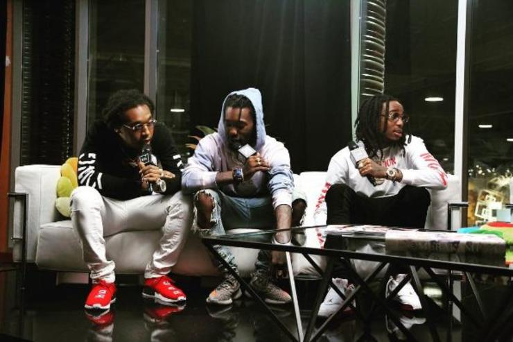 Migos sit for an interview.