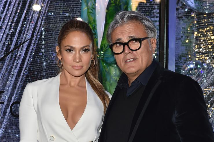 Jennifer Lopez and Guiseppe Zanotti celebrate the release of their new shoe.