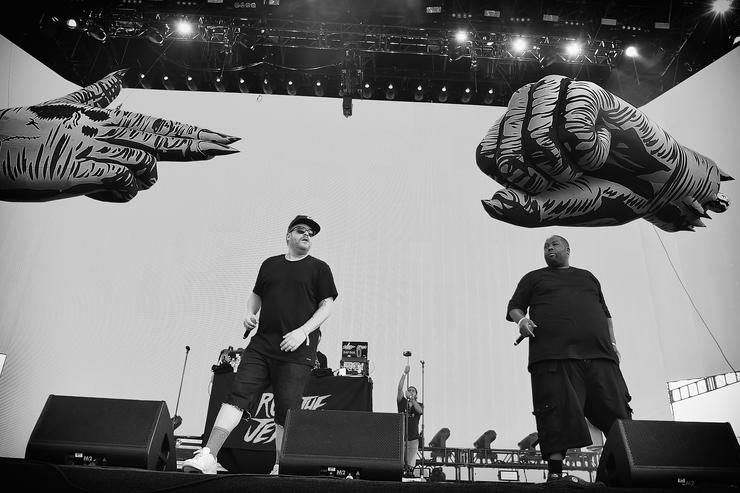 Run The Jewels performing at 2016 Panorama NYC.