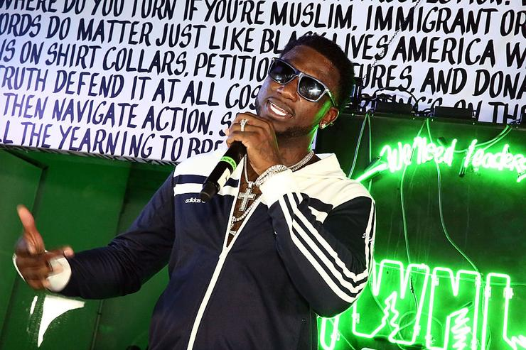 Gucci Mane performs at Public School And The Confidante Present WNL Radio at The Confidante on December 2, 2016 in Miami Beach, Florida.