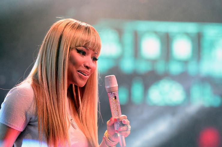 Nicki Minaj performs onstage at a show on December 31, 2015 in Las Vegas, Nevada.
