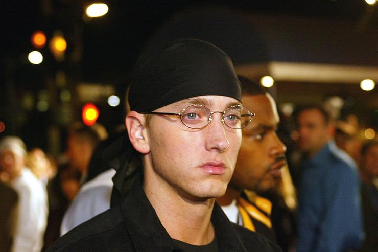 "Eminem at the premiere of ""8 Mile"" at the Village Theatre in Westwood, Ca. Wednesday, Nov. 6, 2002. Photo by Kevin Winter/ImageDirect."