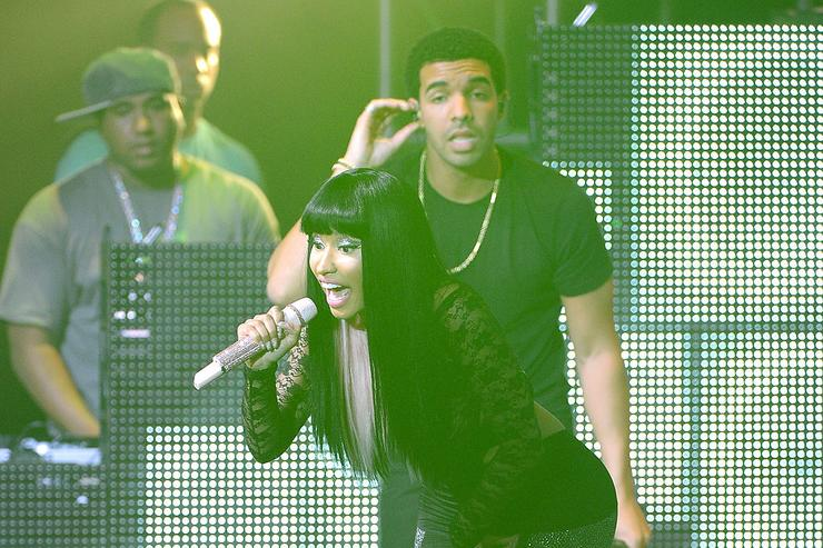 Nicki Minaj and Drake perform at Pepsi Presents Nicki Minaj's Pink Friday Tour at Roseland on August 14, 2012 in New York City.