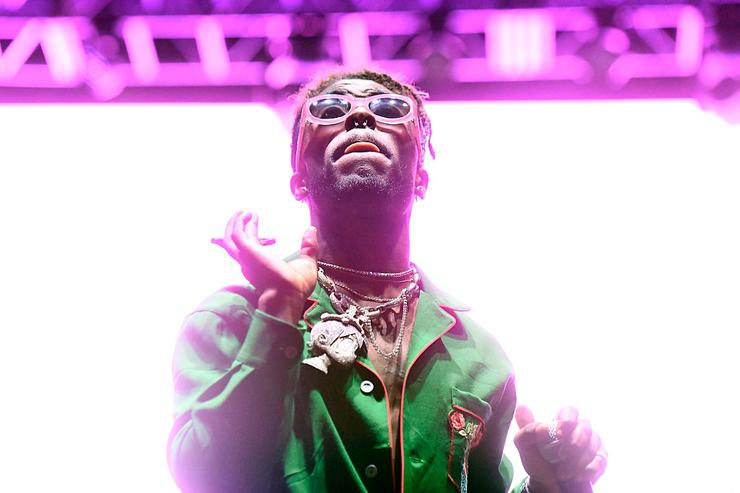 Lil Uzi Vert performs on Flog Stage during day one of Tyler, the Creator's 5th Annual Camp Flog Gnaw Carnival at Exposition Park on November 12, 2016 in Los Angeles, California.