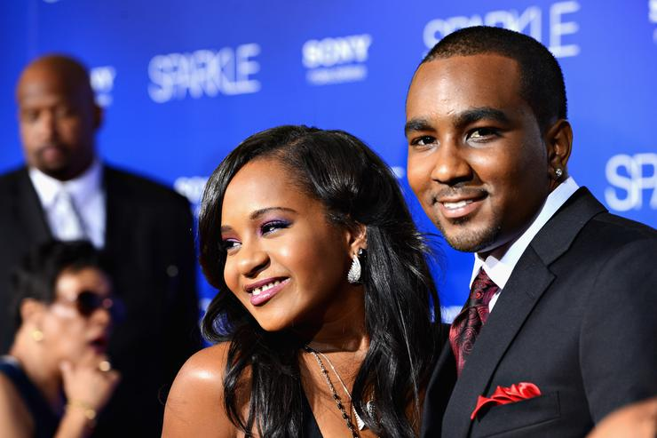 Bobbi Kristina Brown (R) and Nick Gordon arrive at Tri-Star Pictures' 'Sparkle' premiere at Grauman's Chinese Theatre on August 16, 2012 in Hollywood, California.