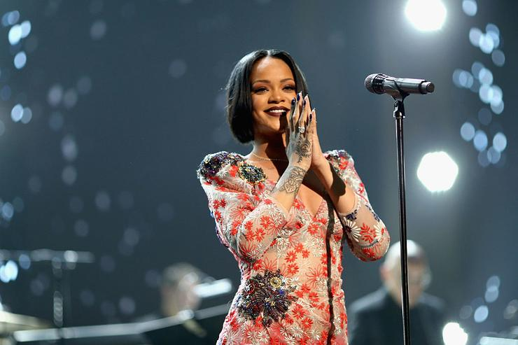 Rihanna performs onstage during the 2016 MusiCares Person of the Year honoring Lionel Richie at the Los Angeles Convention Center on February 13, 2016 in Los Angeles, California.