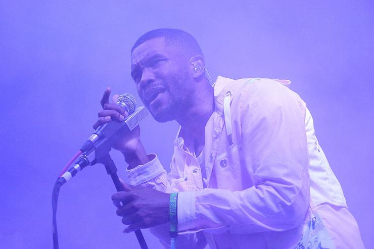 Frank Ocean performs during the 2014 Bonnaroo Music & Arts Festival on June 14, 2014 in Manchester, Tennessee.