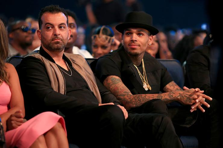Recording artist Chris Brown (R) attends the 2015 BET Awards at the Microsoft Theater on June 28, 2015 in Los Angeles, California.