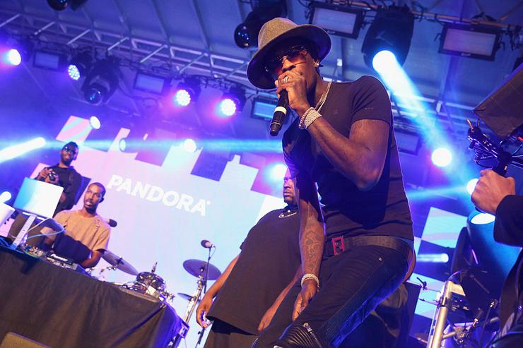 Young Thug performs onstage during the PANDORA Discovery Den SXSW on March 18, 2016 in Austin, Texas.