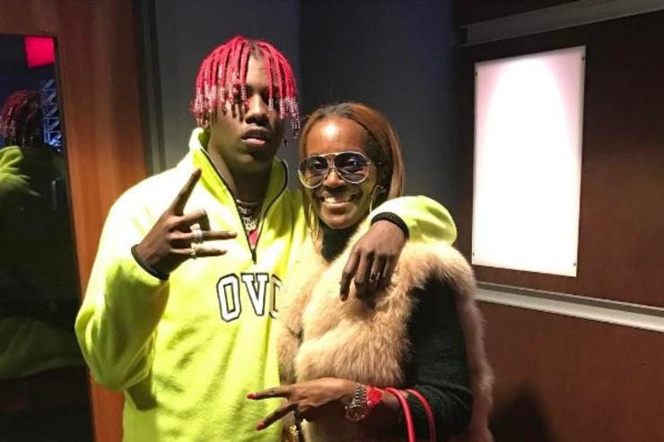 Lil Yachty poses with his mom.