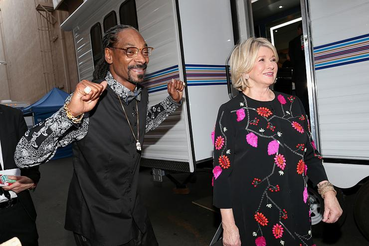 Snoop Dogg and TV personality Martha Stewart attend The Comedy Central Roast of Justin Bieber at Sony Pictures Studios on March 14, 2015 in Los Angeles, California.