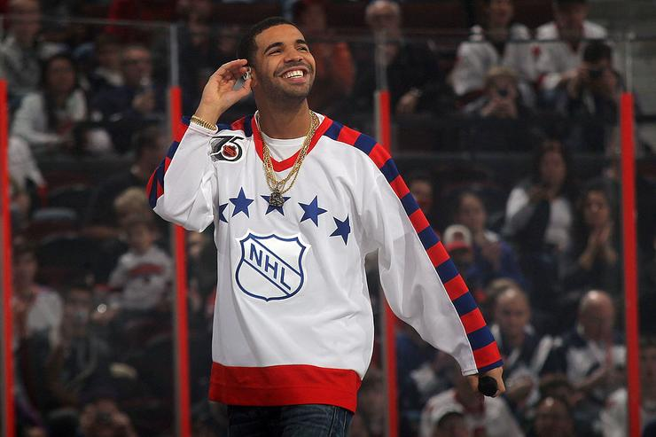 Drake performs during the 2012 Tim Hortons NHL All-Star Game between Team Alfredsson and Team Chara at Scotiabank Place on January 29, 2012 in Ottawa, Ontario, Canada.