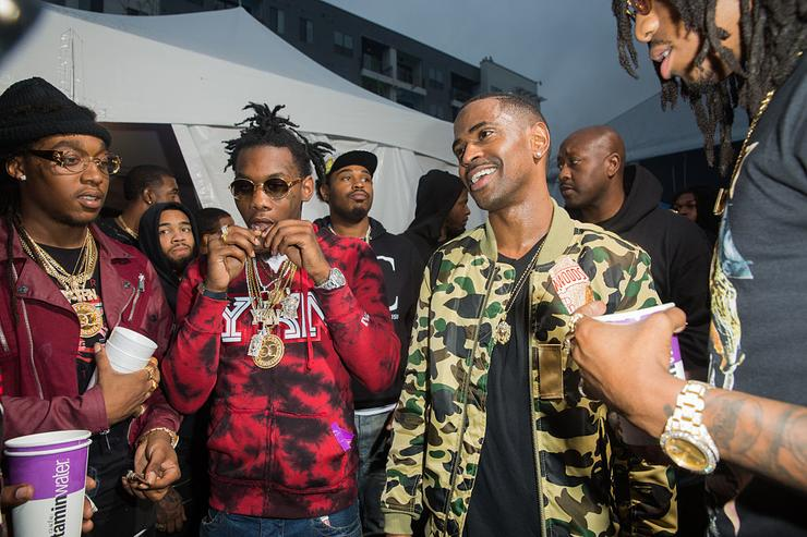 T-Pain, Migos, and Big Sean attend the FADER FORT presented by Converse during SXSW on March 20, 2015 in Austin, Texas.